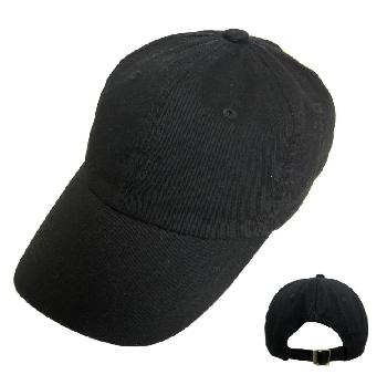 100% Cotton Ball Cap [Black Only]